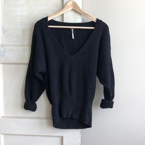 Free People Off the Shoulder Cable Knit Sweater